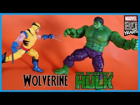Marvel Legends 80th Anniversary 1ST APPEARANCE WOLVERINE VS INCREDIBLE HULK Action Figure Toy Review