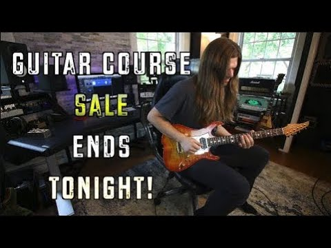 Guitar Course Sale Ends Tonight! & Live Stream at 4Pm Eastern