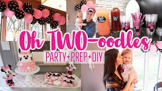 Oh TWO-oodles Party Prep+DIY// Piper's 2nd Birthday// Minnie Mouse Birthday Party