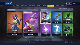 NEW DJ BOP SKIN! | FORTNITE ITEM SHOP TODAY! | NEW YEARS DAY SHOP! (1ST JANUARY)