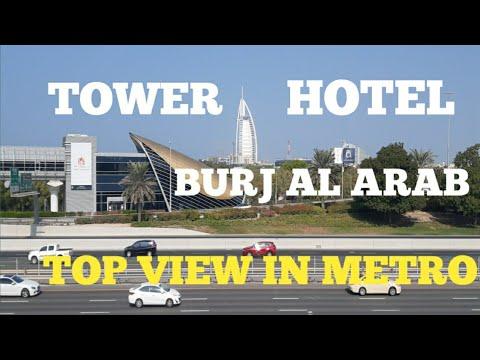 BURJ AL ARAB HOTEL TOP VIEW Can Be SEEN  INSIDE METRO DUBAI