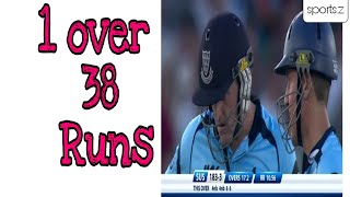 6 balls 38 Runs by Scot Styris