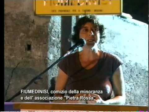 Comizio Fiumedinisi 2010 - 2° intervento - Anna Giordano