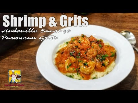 Smothered Shrimp And Grits | #BreakfastwithAB