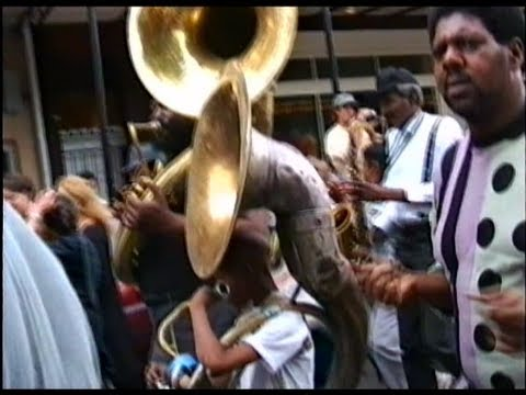 New Orleans Second Line & Memorial Parade for  Danny Barker 1995 Treme