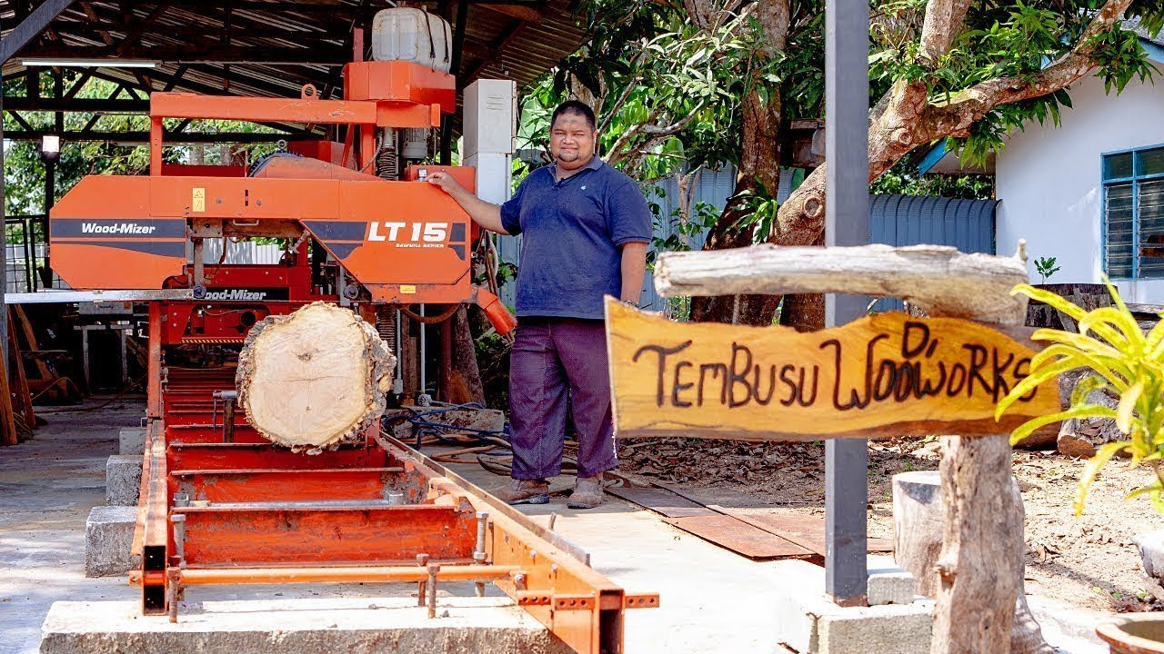 lt15 sawmill demonstration in bahasa malayu-indonesia language | wood-mizer