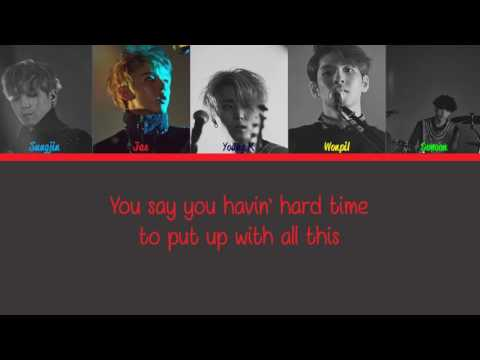 DAY6 (Cover) - Bad Boy Eng Ver Lyrics (Color Code)
