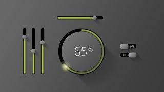 Mobile GUI Element Design in Adobe Photoshop CC (Part 2)