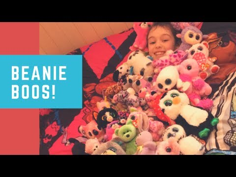 348b3f988c7 My Awesome TY Beanie Boo Collection! HUGE Beanie Boo Collection! Rainbow  Ally
