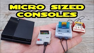 "Awesome Micro sized Nintendo Famicoms & PS4 consoles ""Non Functional"" Gashapon Toys"