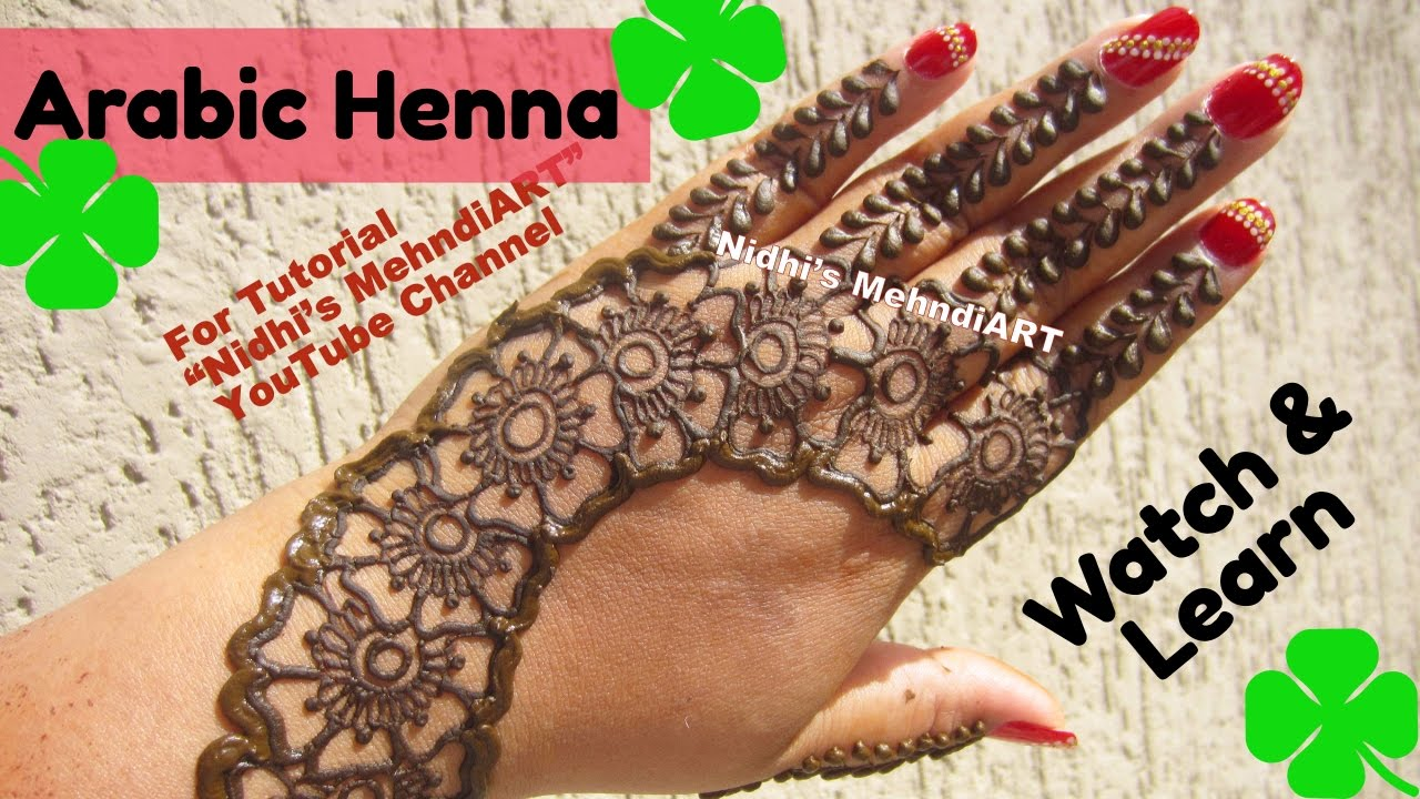 Mehndi Henna Designs S : Best and beautiful flower arabic mehndi henna designs tutorial for