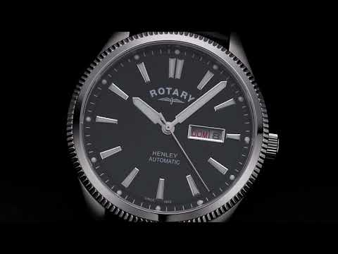 Rotary Gents Strap White Serrated Bezel Henley - GS05380/04