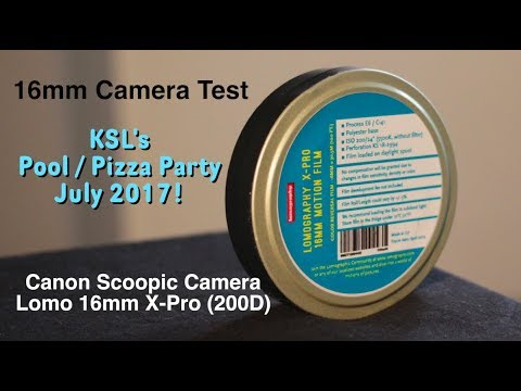 16mm Canon Scoopic / Lomo X-Pro Film / Pool Pizza Party 2017!