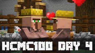 Minecraft 1.14.3 Day 4 | HARDCORE 100% Challenge #HCMC100