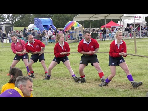 Scottish National Mixed Tug Of War Competition At 2019 Fettercairn Show In Aberdeenshire Scotland