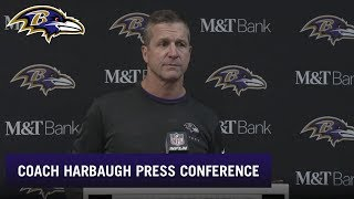 John Harbaugh Full Press Conference After Week 13 Win Over Buffalo | Baltimore Ravens