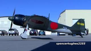 A6M5 Zero Engine Start-Up & Flight