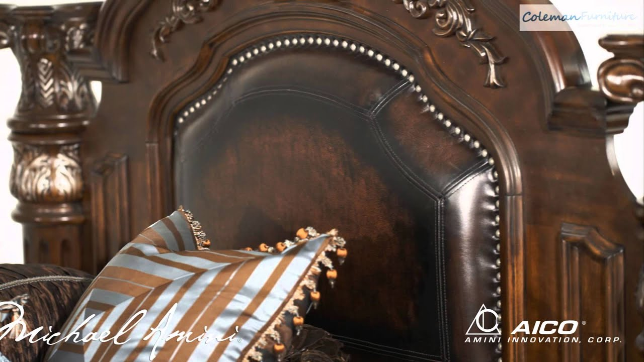 Monte Carlo II Cafe Noir Bedroom Collection From Aico Furniture   YouTube