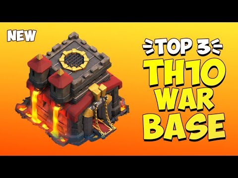 TOP 3 BEST TH10 WAR BASE 2019! Anti 2 Star Town Hall 10 War Base | Clash Of Clans