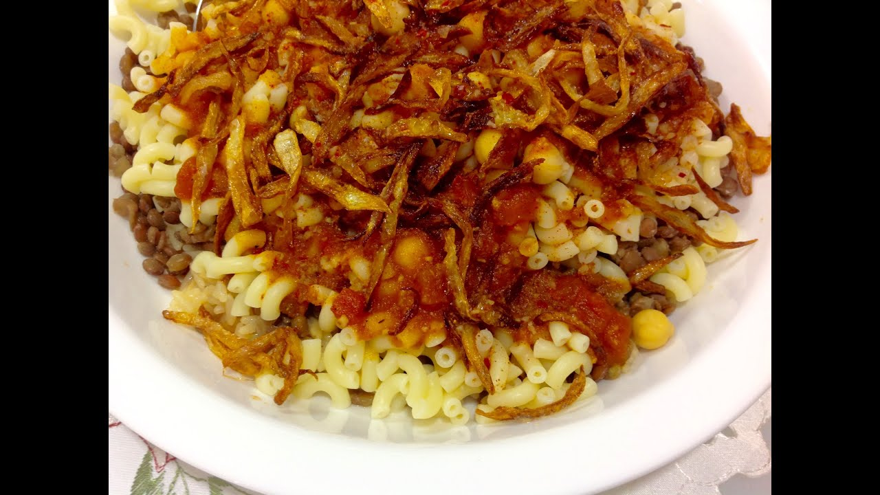Egyptian lentil rice pasta koshari youtube forumfinder Gallery