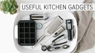8 USEFUL KITCHEN GADGETS | kitchen organization + minimalism