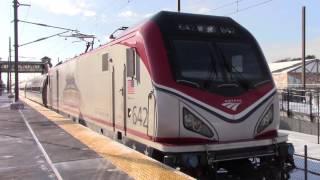 [Amtrak HD 60 FPS] Railfanning Westerly and Kingston Ft. ACS-64 #642 Veterans - 1/8/17