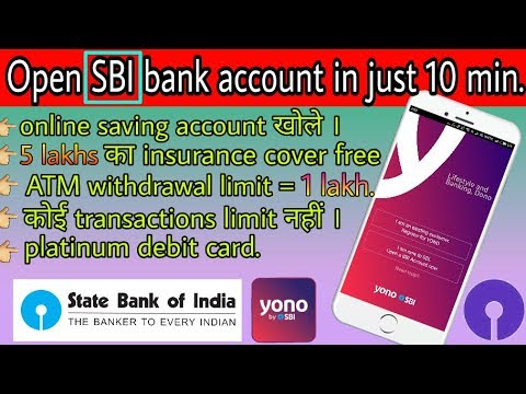 how to open a bank account in sbi by yono app