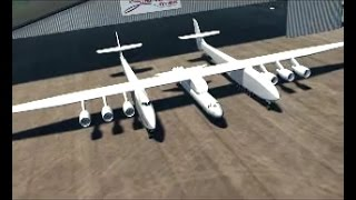 Stratolaunch systems 2011 demo video - (Paul G. Allen, SpaceX, Scaled Composites and Dynatics)
