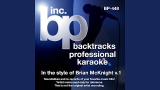 One Last Cry (Karaoke Instrumental Track) (In the Style of Brian McKnight)