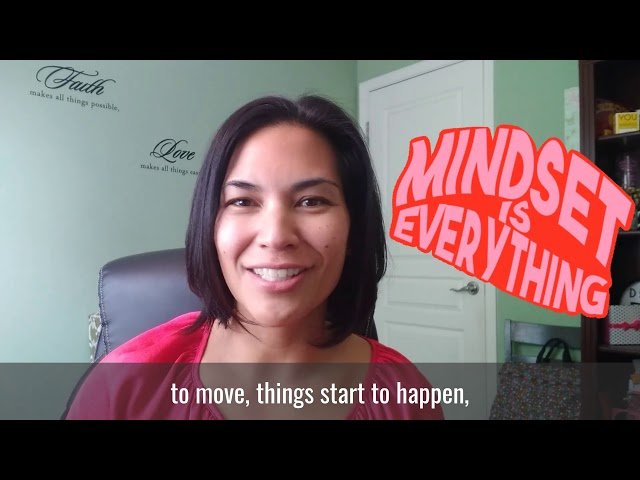 Rule of Life Lesson #126: Get your mindset straight.