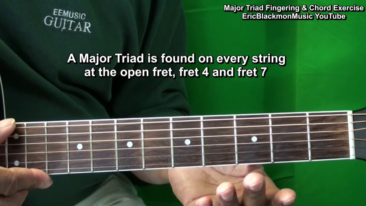 How To Play Major Chord Triads Exercise Guitar Practice Tutorial