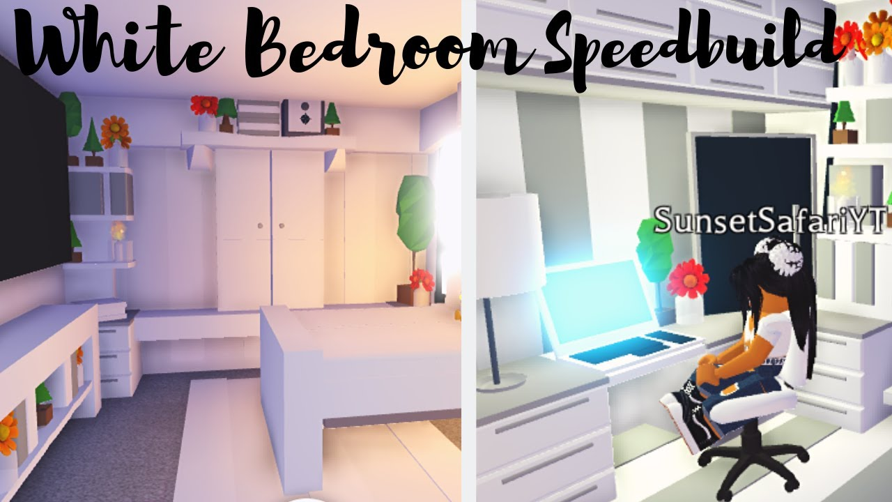 Building Her Dream Bedroom White Bedroom Speedbuild Roblox Adopt Me Youtube