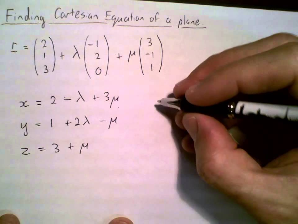 Vector Line Art Converter : Vector eqn of plane convert to cartesian youtube