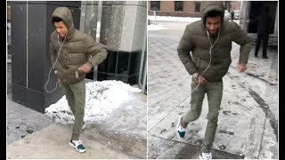Blueface Crip Walking In The Snow Better Than OT Genasis