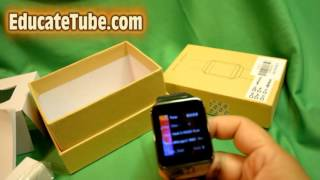 zgpax s29 smart watch phone unboxing and review