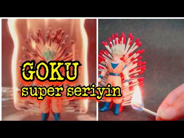 GOKU SUPER SERIYIN | quemo mi figura de goku con cerillos
