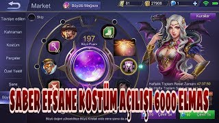 Mobile Legends- Büyülü Çark Çevirdim(SABER EFSANEVİ KOSTÜMÜ)