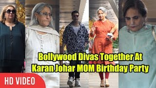 UNCUT - Karan Mom Hiroo Johar Birthday Celebration   Salma Khan, Jaya Bachchan, Sharmila Tagore