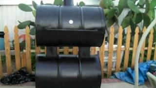Black Homemade Bbq Smoker # 2