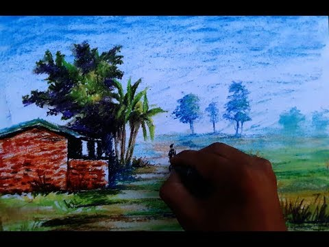 Very easy landscape work for beginners by Artist Sunil Kapoor