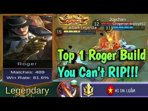 Mobile Legends: Top 1 Roger Build | Make You Invincible  - Roger Most OP💪