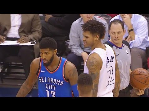 Paul George toys with Kelly Oubre