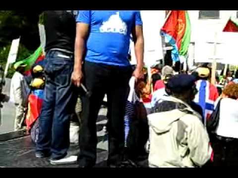 Eritreans in Norway demonstrated against NRK (Norwegian Television Broadcast)