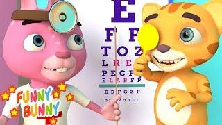 Doctor Checkup Song   Nursery Rhyme & Funny Bunny