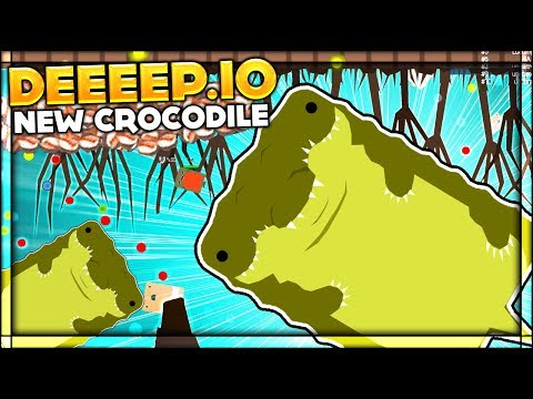 Deeeep.io RAGE QUIT   BRAND NEW CROCODILE UPDATE & SWAMP BIOME   Lets Play Deeeep.io Gameplay (Beta)