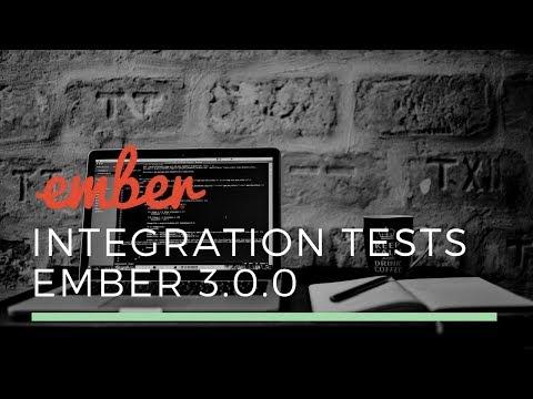 Integration tests in Ember 3