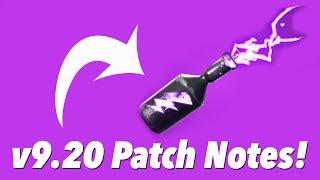 v9.20 Patch Notes! (FORTNITE)