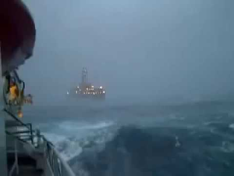 "[Seismic channel] Seismic vessel in ""perfect storm"""
