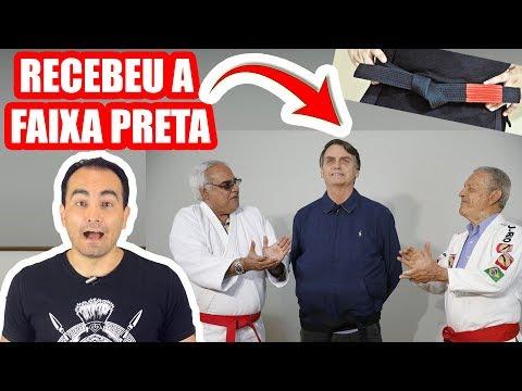 BOLSONARO RECEBE A FAIXA PRETA DE JIU JITSU