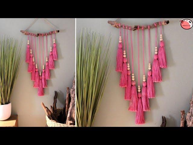 Very Easy!!! Designer Wall Hanging Craft Ideas | Handmade Things at Home | Woolen Craft Idea DIY